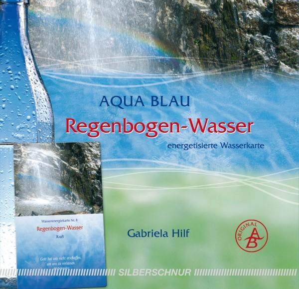 Aqua-Blau Regenbogen-Wasser