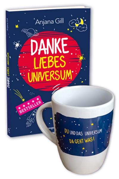 Set – Danke liebes Universum: Buch + Tasse