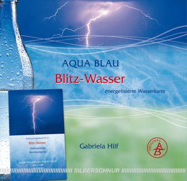 Aqua-Blau Blitz-Wasser