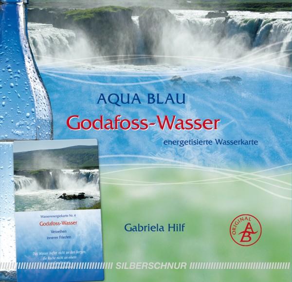 Aqua-Blau Godafoss-Wasser