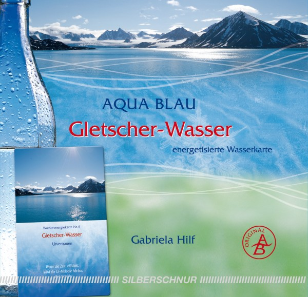 Aqua-Blau Gletscher-Wasser