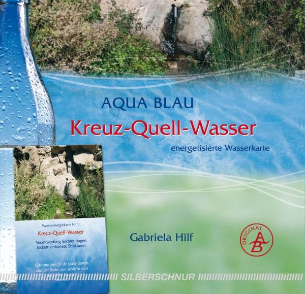 Aqua-Blau Kreuz-Quell-Wasser