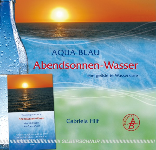 Aqua-Blau Abendsonnen-Wasser
